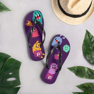 PRIDE48 MONSTER FLIP FLOPS