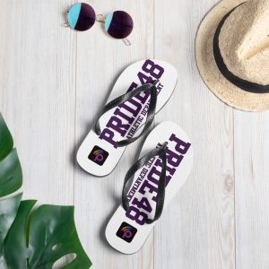 PRIDE48 LEGACY ATHLETIC FLIP FLOPS